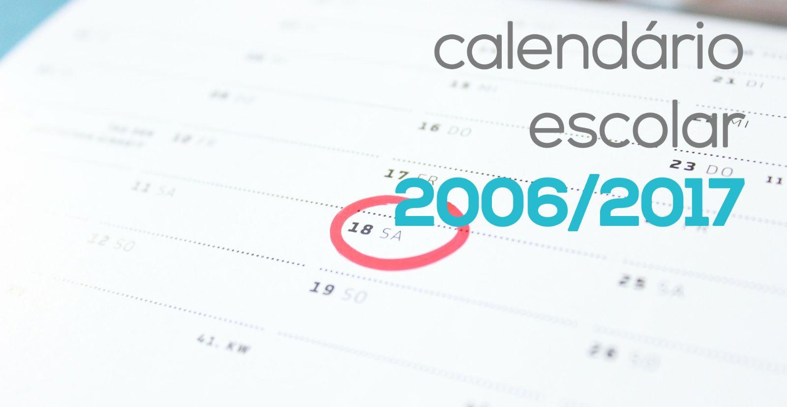 Calendário Escolar 2016/2017