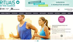 Rituais de Vida Saudável com site renovado